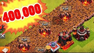 Clash of Clans 400,000 barbarians the biggest battle in (clash of clans)must watch