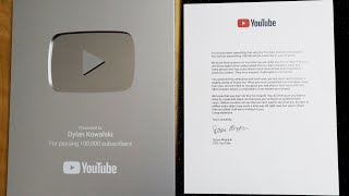 YouTube Silver Play Button Unboxing. #YouTubeCreatorAwards!