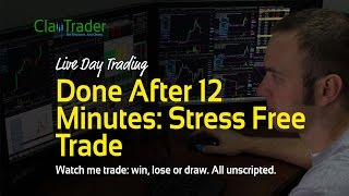 Live Day Trading - Done After 12 Minutes: Stress Free Trade