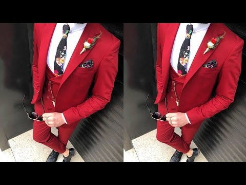 most fashionable differently innovative design New style 3 piece suits for man//New design coat pant suits ...