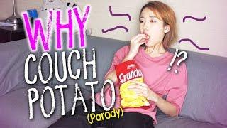 couch-potato【vs】veg-out