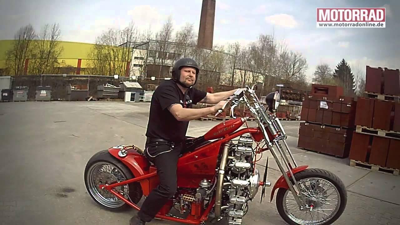 画像: Sternmotorbike: Frank Ohle baut Motorrad mit Flugzeugmotor youtu.be