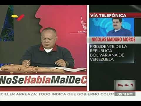 Presidente Maduro, Diosdado Cabello y Jorge Rodríguez en Con El Mazo Dando, 25 de marzo de 2020