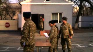 Как вручают военные билеты дембелям в Кыргызстане!