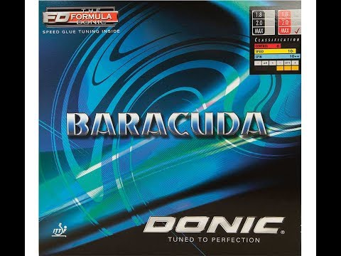 Donic Baracuda Table Tennis PingPong Rubber unboxing and review