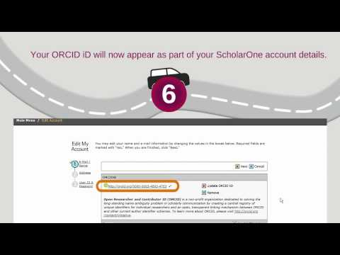 Associate your ScholarOne account with your ORCID iD – Part