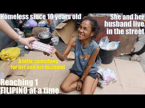 Let's Travel to Manila Philippines and Meet some Homeless and Beggars in the Streets