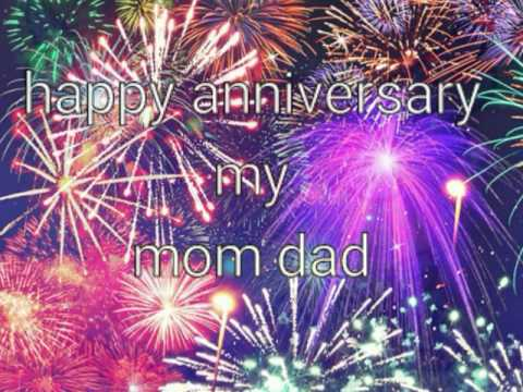 Happy anniversary my sweet mom dad