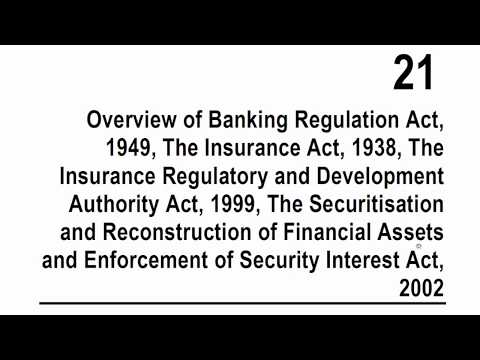 CA Final Corporate and Allied Laws - Overview of Banking and Insurance Laws