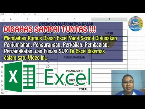 Rumus Penjumlahan, Pengurangan, Perkalian, Pembagian, Perpangkatan, dan Fungsi SUM di Excel