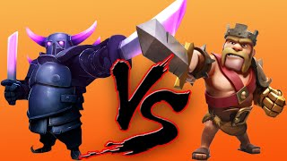"Clash of Clans Pekka Vs Barbarian King | 2 Rounds Of Pekka Vs King! | ""MUST WATCH"""