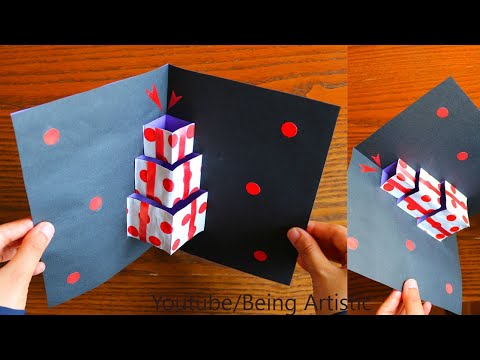 DIY Gift Box Pop up Card - Paper Craft - Handmade Greeting Card