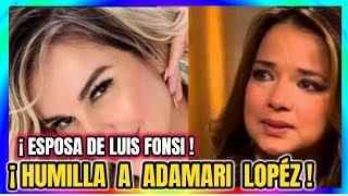 ¡ HACE UNAS HORAS !Esposa de Luis Fonsi  HUMI-LLA a Adamari López CONDUCTORA DE UN NUEVO DIA HOY !