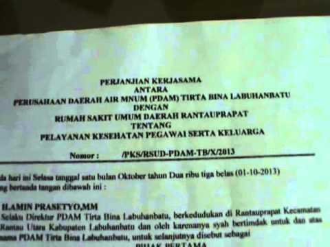"""Dokumen LSM """"CIFOR"""" FILE 04  PEGAWAI PDAM DITOLAK BEROBAT DIRSUD RANTAUPRAPAT"""