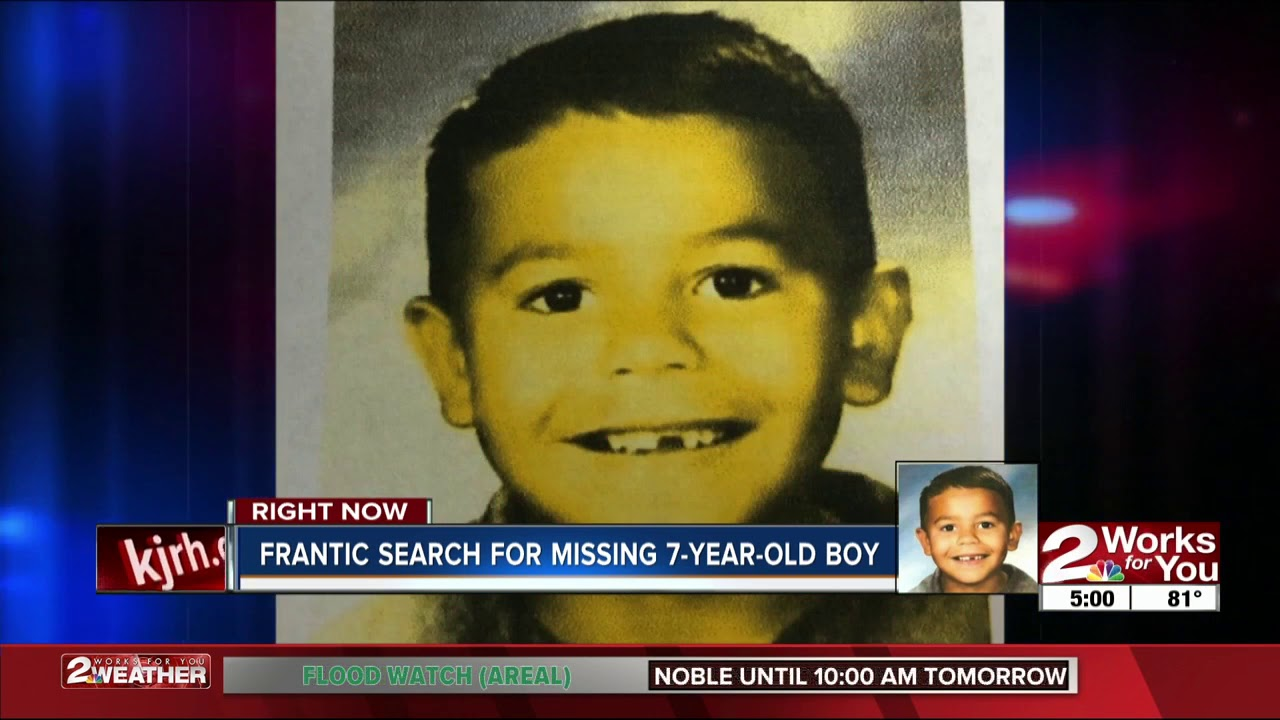 Frantic search for missing 7-year-old boy