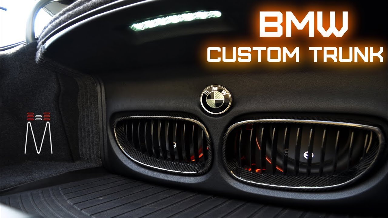 Bmw 5 Series Jl Audio Front Grill Trunk Build Youtube