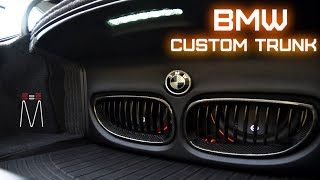 BMW 5 Series JL Audio Front Grill Trunk Build