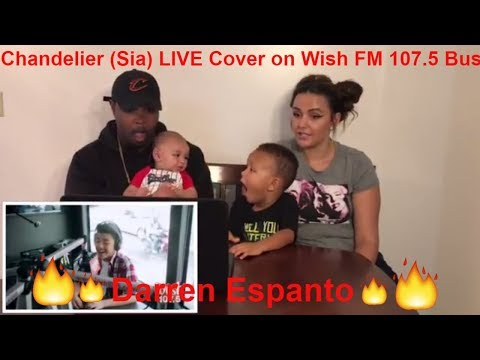 Darren Espanto - Chandelier (Sia) LIVE Cover on Wish FM 107.5 Bus (REACTION)