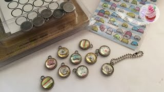 Mamegoma epoxy metal charms ♬