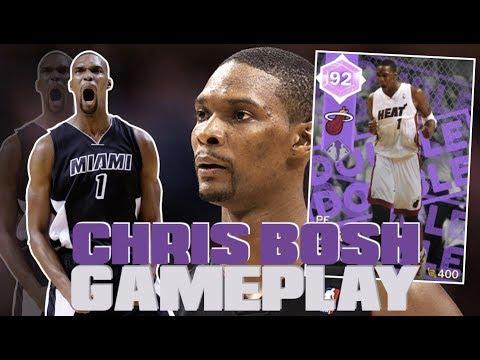 19a44793c 1K MT AMETHYST CHRIS BOSH GAMEPLAY!! CHEAPEST AMETHYST DYNAMIC DUO IN THE  GAME! NBA 2K18 MYTEAM