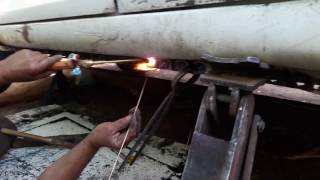 gas welding in car