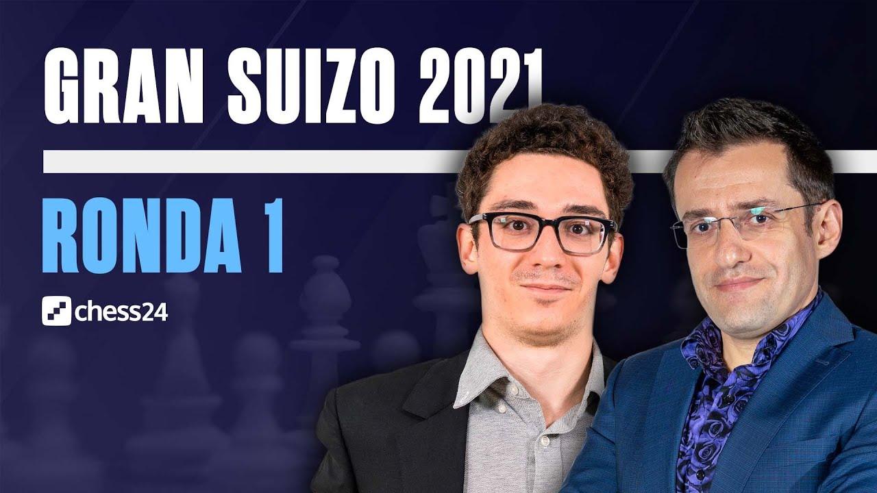 Download GRAN SUIZO 2021   Ronda 1   Caruana, Aronian, Antón, Pichot, Cori...