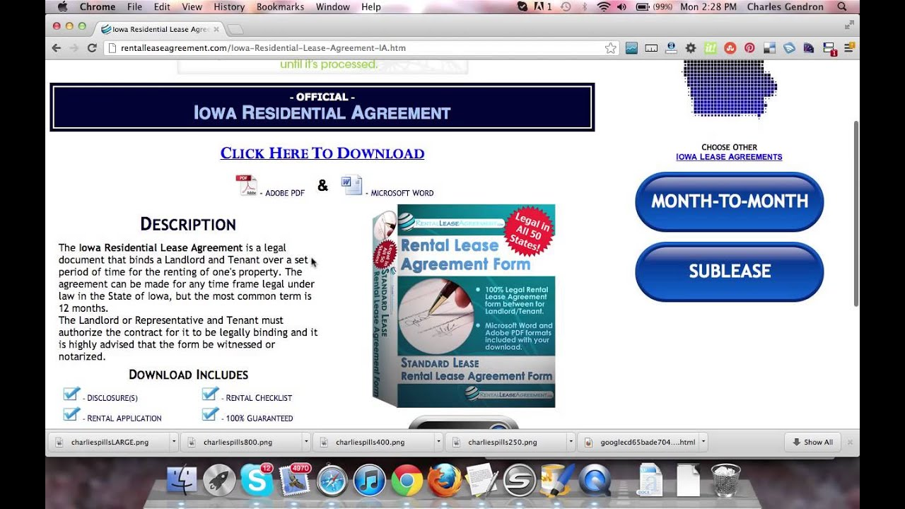 Iowa Residential Lease Agreement