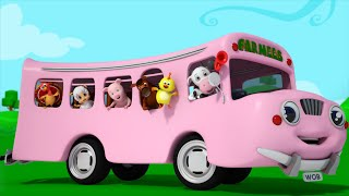 wheels on the bus go round and round   farmees   nursery rhymes   kids songs