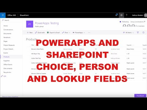 PowerApps Does SharePoint! - YouTube