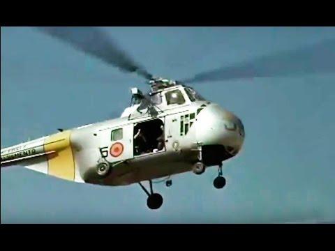 Vuelo en helicóptero sobre el río Ebro (1960) - Helicoptero Sirorsky S 55 H 19 Ejército del aire
