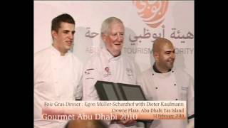 Gourmet Abu Dhabi, 12-02-2010: Foie Gras Dinner Egon Müller-Scharzhof, Dieter Kaufmann