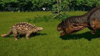 Crichtonsaurus vs T-Rex, Indominus Rex, Spinosaurus, Giganotosaurus, Carcharodontosaurus & Acro