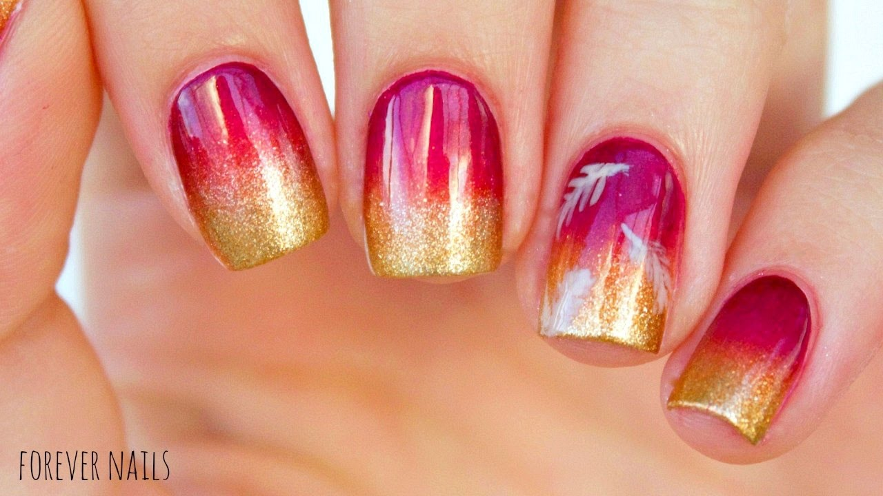 Easy Fall Gradient Nails
