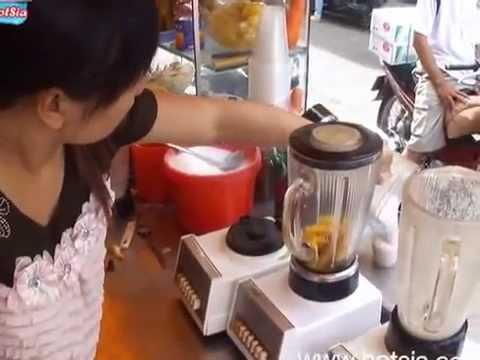 Fruit shakes in Soc Trang(น้ำผลไม้ปั่น)