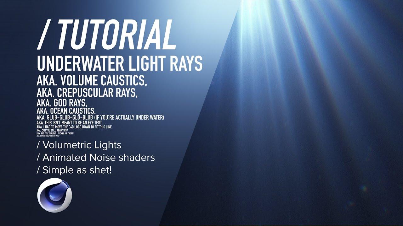c4d tutorial - underwater light rays - youtube, Reel Combo