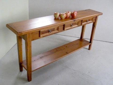 Charmant Pine Lumber Console Table