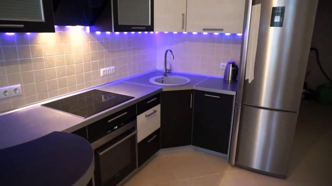Светодиодная LED подсветка рабочей зоны кухни с использованием .