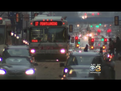 Snow Storm Leaving Its Mark On The City Of Philadelphia