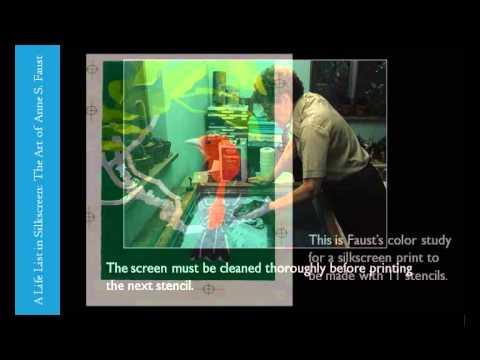 Anne S. Faust Silkscreen Print Process