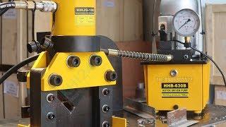 Hydraulic Angle Cropper HHJG-100 and Hydraulic Electric Pump HHB-630B