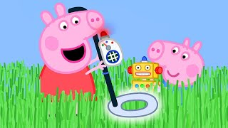 Kids TV & Stories 🌟NEW SEASON 🌟Peppa Pig Uses a Metal Detector to Find George's Key