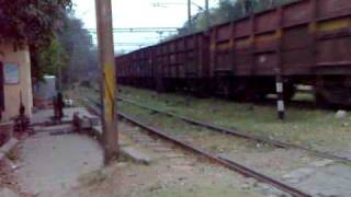 IRFCA - WAG-5 #24463 In Action Hauling Boxn Rakes At Delhi Cantonment!