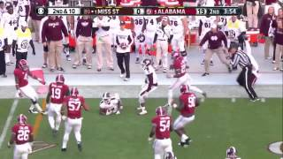 #5 Alabama vs. #1 Mississippi State 2014 (Highlights)
