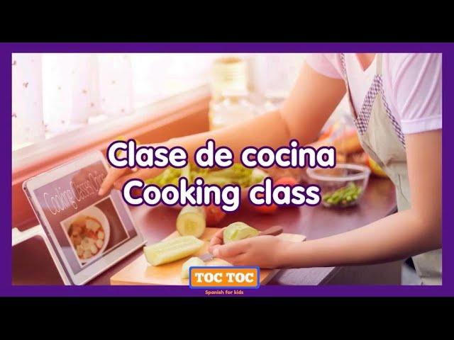 Clase de cocina para niños (bilingual) 👩🏼🍳: Pico de gallo 🇲🇽🍅🍋🥒⭐ - Summer Camp with Toc Toc Spanish