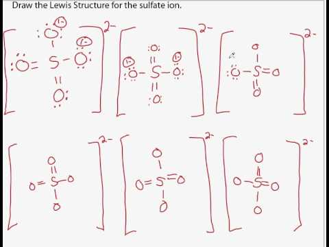 sulfate lewis structure part 3.avi - YouTube