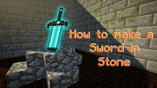 Minecraft Survival - How to make a Sword in Stone