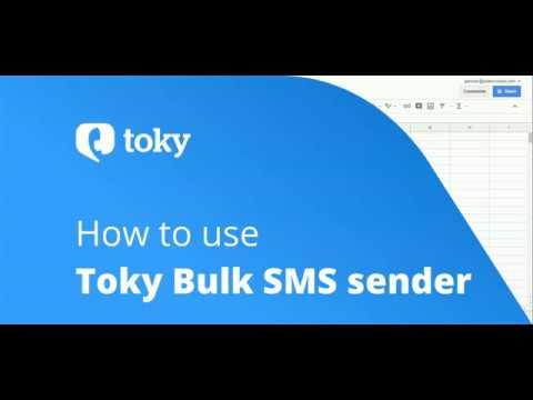 Toky bulk SMS sender add-on for Google Sheets