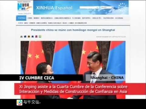 Declaración Sino-Rusa de Shanghai. Cumbre CICA  | CCh 2014 05 22 | Bloqu 3