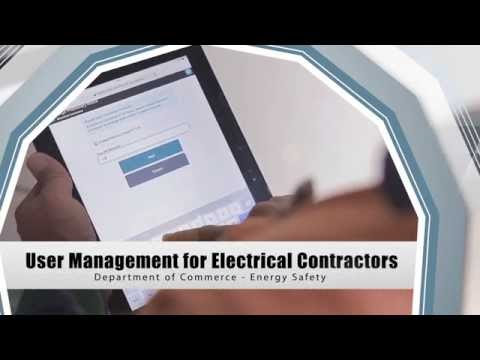 User management for electrical contractors