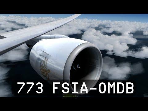 Prepar3d V4 - Emirates 777-300ER - Seychelles to Dubai (FSIA-OMDB)
